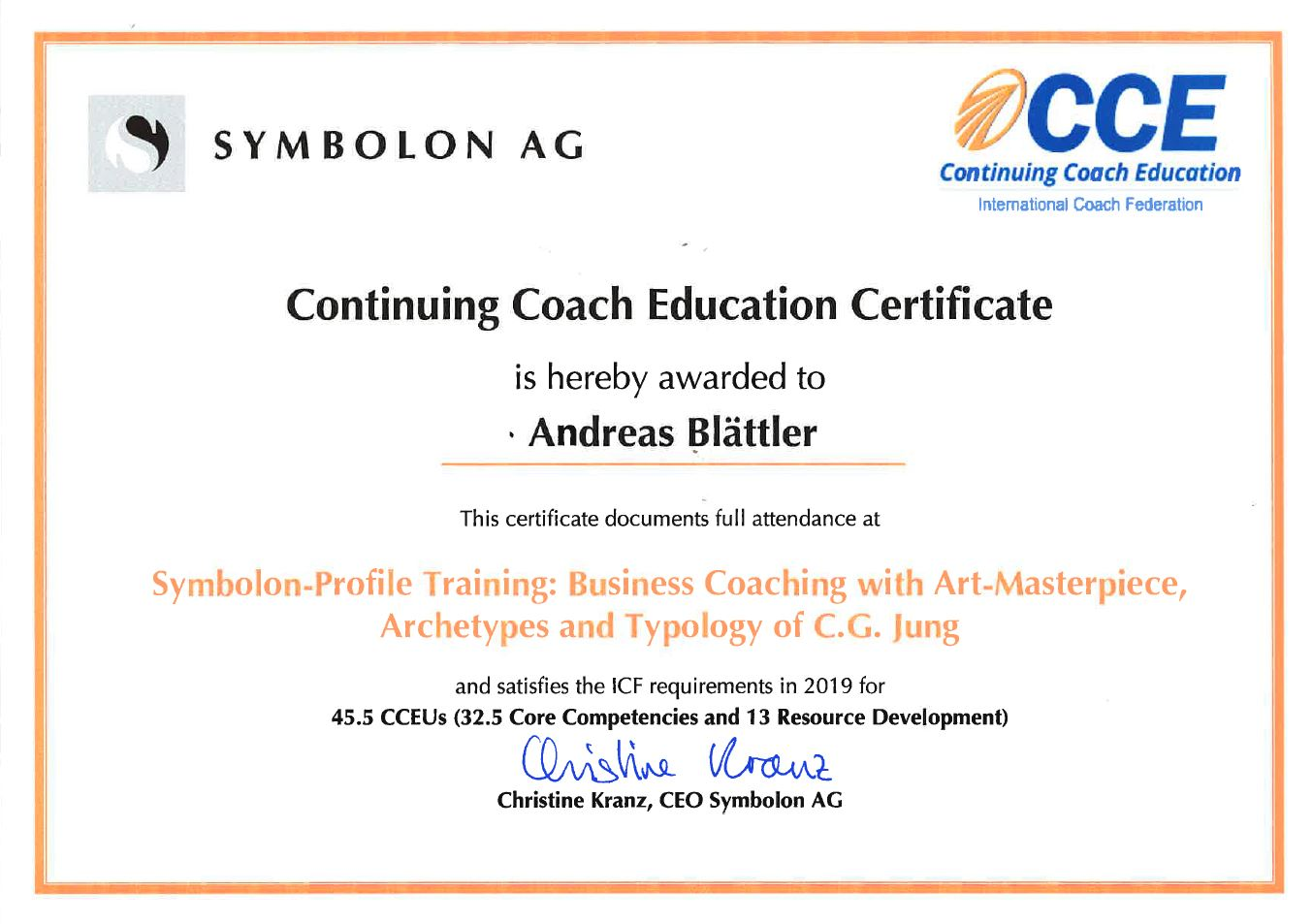 Symbolon Profil Business Coaching